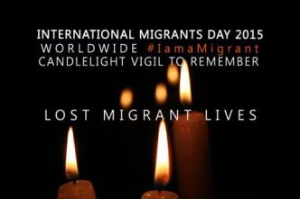 migrants day 2015 candlelight IOM