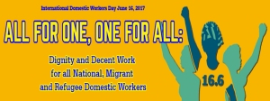 Domestic Worker Day 2017 banner
